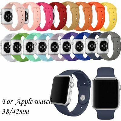 For Apple Watch Series 4/3/2/1 Silicone Bracelet Strap Band Watch 38/42/40/44 EA