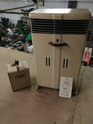 Vintage Valor Paraffin Heater with top up can and instruction leaflet.
