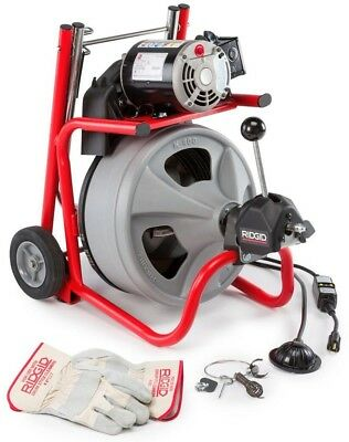 RIDGID Drain Cleaning TOOL 115-Volt Drum Machine Wound Powered Cable Steel