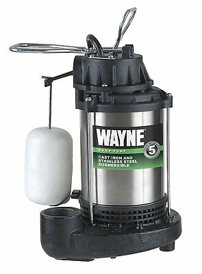 WAYNE CDU980E 3/4 HP Submersible Cast Iron and Stainless Steel Sump Pump NEW