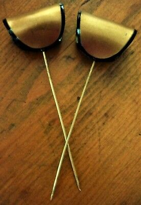 Stunning Art Deco Pair Of Lucite Hat Pins