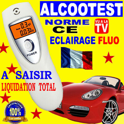 100% Super Promo Ethylotest Ecran Fluo Haute Precision Alcotest Breathalyzer