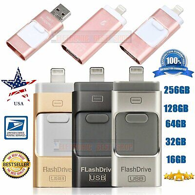 32 64 128 256GB Flash Drive For iPhone Android Pen Drive USB 2.0 Memory Stick US