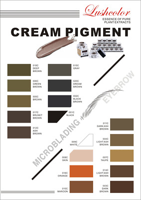 Starter Kit | Microblading Pigment | Lush Colours - Pigments & Colour Wheel
