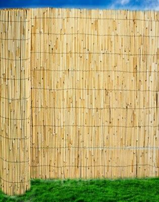 Abaseen Natural Reed Screening Garden Fence Peeled Roll Screen 1.5mx4m