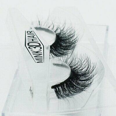 3D Luxurious Real Mink Natural Cross Long Thick Eye Lashes False Eyelashes EA
