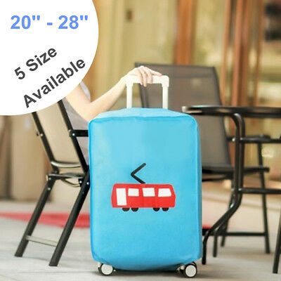 Elastic Luggage Cover Trolley Suitcase Protector Nonwoven Dustproof Bag 20-28''