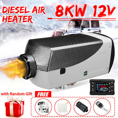 8KW 12V Diesel Air Heater 8000W LCD Thermostat Smart For Trucks Boat Car Trailer