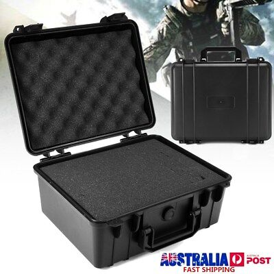 Waterproof Black Hard Plastic Carry Case Bag Tool Storage Box Portable Organizer