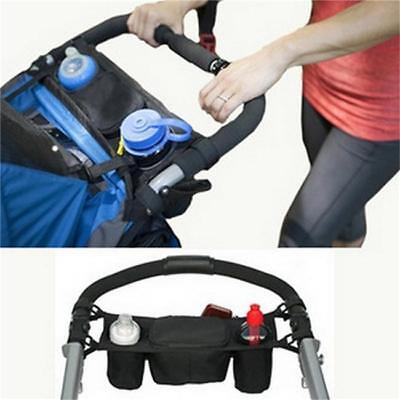 New Pram/Pushchair/Stroller/Buggy Cup/Bottle/Drinks/Food Holder Storage Bag FI