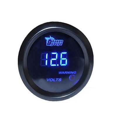 DRAGONGAUGE 2inch 52mm Blue Digital LED Electronic Volt Meters Gauge W1E6