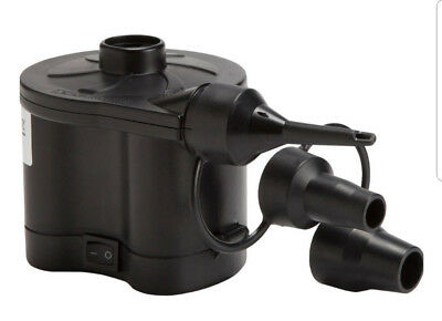Quick Fill Electric Air Pump Inflator with 3 Nozzles for Inflatables Bed Mattres