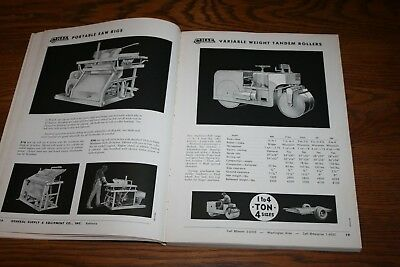 1962 Vintage General Construction Supply and Equipment Co Baltimore & Washington