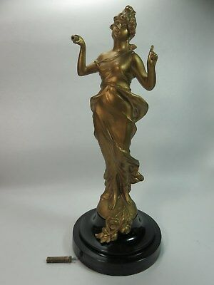 Mystery Swinger 8 Day Figural Lady Winding Clock BASE ONLY Fuji?