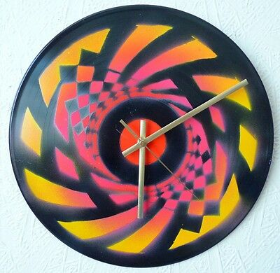 record Wall Clocks..Tribal..Stu Allan..TREE OF LIFE..festivals..UV  Art..gong