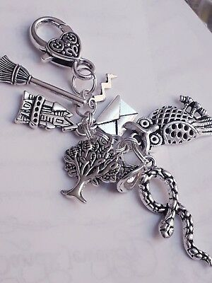 Tibetan Silver Charm BAG CLIP Harry Potter Inspired Gift Wizard Special Gift