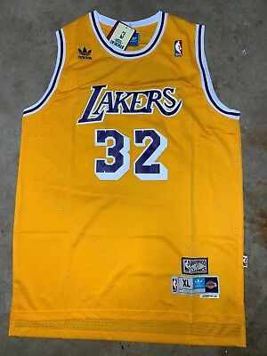 hot sale online d860f 3e799 MAGIC JOHNSON #32 Los Angeles Lakers HWC Classic Gold stiched Jersey NWT