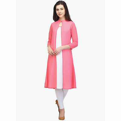 Indian Rayon Pakistani Kurti Kurta Boat Neck Exclusive Dress