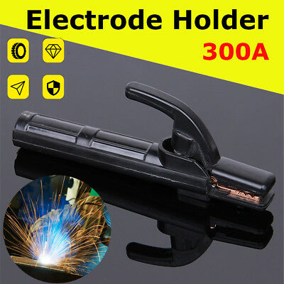 Electrode Holder Stick Welder Mini Copper Welding Rod Stinger Clamp Tool 300A