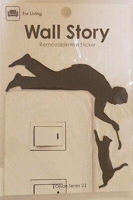 5 kinds of Wall sticker Removable Japan Electric Switch Fabric No Shiny Fun Cat