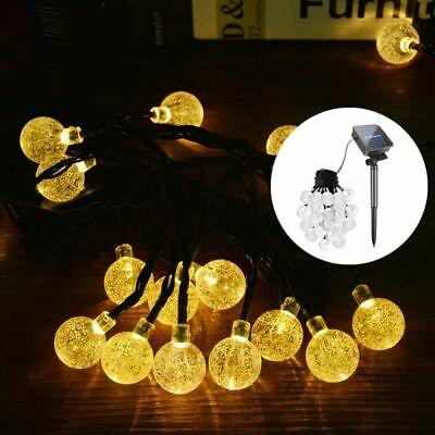 Solar Garden Lights String Fairy 30 Led Multi Colour LED Globe Ball Weatherproof