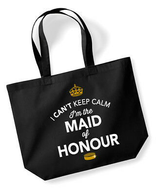 Maid Of Honour Gift Idea Wedding Hen Party Bridal Bag Handbag Present Keepsake