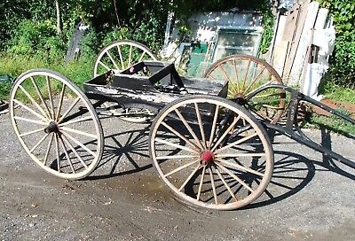 Antique Horse-Drawn Doctor's Buggy, Carriage, w/Harness, Late 1800s-Early 1900s