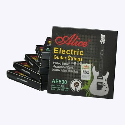 6Sets Alice Electric Guitar Strings Hexagonal Core Nickel Alloy Wound AE530L 010