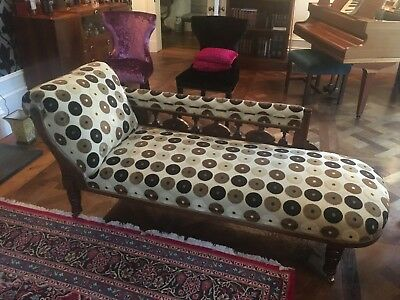 Chaise Longue in gorgeous Wood & Watkins designer fabric