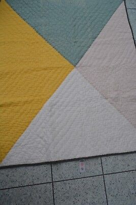 Mamas and Papas DIAGONAL Multi Coloured Quilted Cot / Cot bed Coverlet