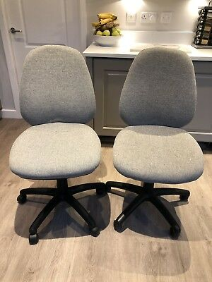 Two Grey Office Chairs, Excellent Condition