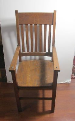Arts &Crafts Mission Oak Childs Size Child Chair Children With arms