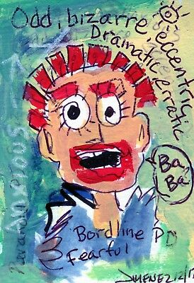 Outsider Art Painting  - Aceo - Art Brut