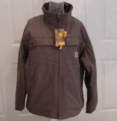 Carhartt Nwt Quick Duck Jefferson Thinsulate Water Repellent Gray Coat Size L