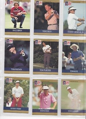 100 golf trade cards Pro Set PGA Tour 1990