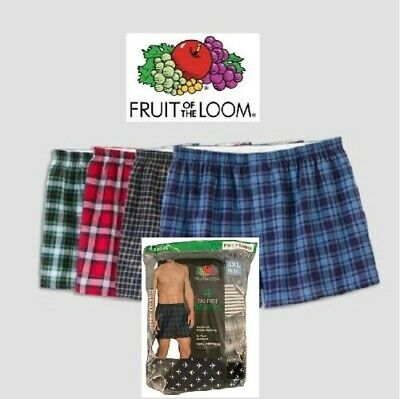 Fruit Of The Loom Mens Tag Free Boxers Size 3XL(48-50) Relaxed Fit ( VALUE PACK)