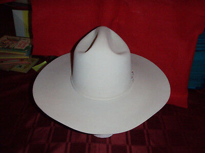 af7e6c58884 STETSON THE BILLY Kidd Western Cowboy Hat Size 7 Brown Felt Feathers ...