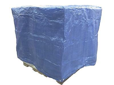 Pallet Cover Blue Poly Tarp 4 Ft. X 5 Ft. X 4 Ft. Used
