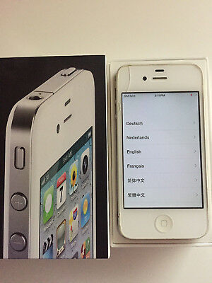 Apple iphone 4 White 8GB (MD198DA/A) Simlock free