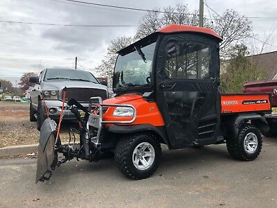 2012 KUBOTA RTV900 4X4 Diesel, Enclosed With Brand New Hydraulic Curtis Plow