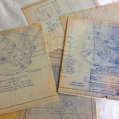 1973 Reliable Ind New Baltimore Michigan V-4 Steam Engine Construction Blueprint