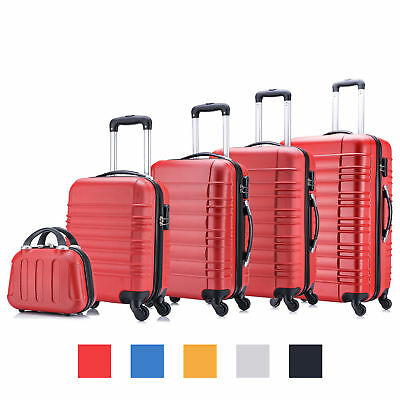 5tlg Koffer Set Orange Hartschalenkoffer Reisekoffer Trolley Hartschale - B-Ware
