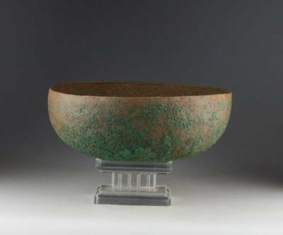 *SC*ROMAN PERIOD BRONZE FOOD BOWL, WESTERN ASIA 1st-3rd cent AD!