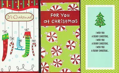 Lot of 3 Christmas Greeting Card MONEY HOLDERS #9