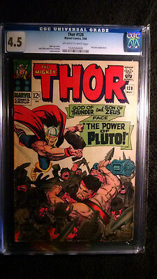 The Mighty Thor #128 (Marvel, May 1966) Hercules Appearance - CGC 4.5
