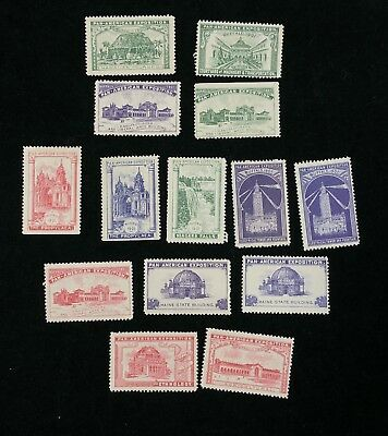Lot 14 1901 PAN AMERICAN EXHIBITION Buffalo NY World's Fair Poster Stamps