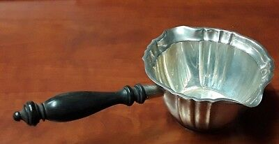 TA08 Rare Vintage Sterling Silver Gravy Ladle w Wood Handle GORHAM CHIPPENDALE