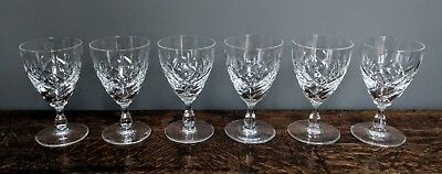 Crystal Sherry Desert Shot Glasses cut glass job lot of 6 fantastic quality