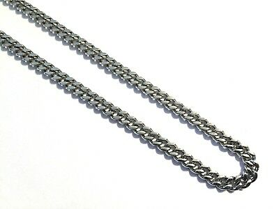 "Men's 925 Sterling Silver Plated Stainless Steel Curb Link 22"" Chain Necklace"