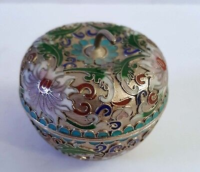 Chinese vintage cloisonne apple